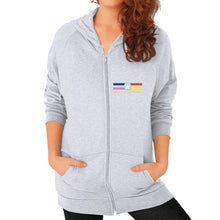 Zip Hoodie (on woman) Heather grey International Group of Anthony