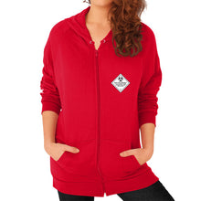 Zip Hoodie (on woman) Red International Group of Anthony