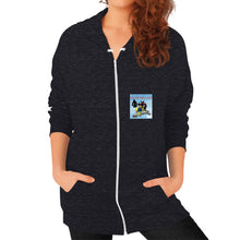 Zip Hoodie (on woman) Tri-Blend Black International Group of Anthony