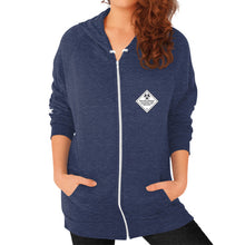 Zip Hoodie (on woman) Tri-Blend Navy International Group of Anthony