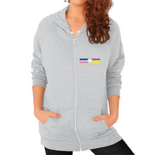 Zip Hoodie (on woman) Tri-Blend Silver International Group of Anthony