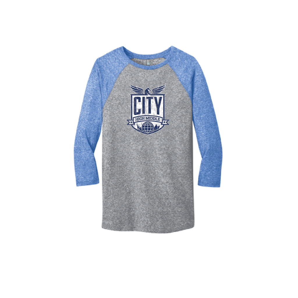 City High Middle Men's 3/4 Sleeve Baseball Tee (DT162)