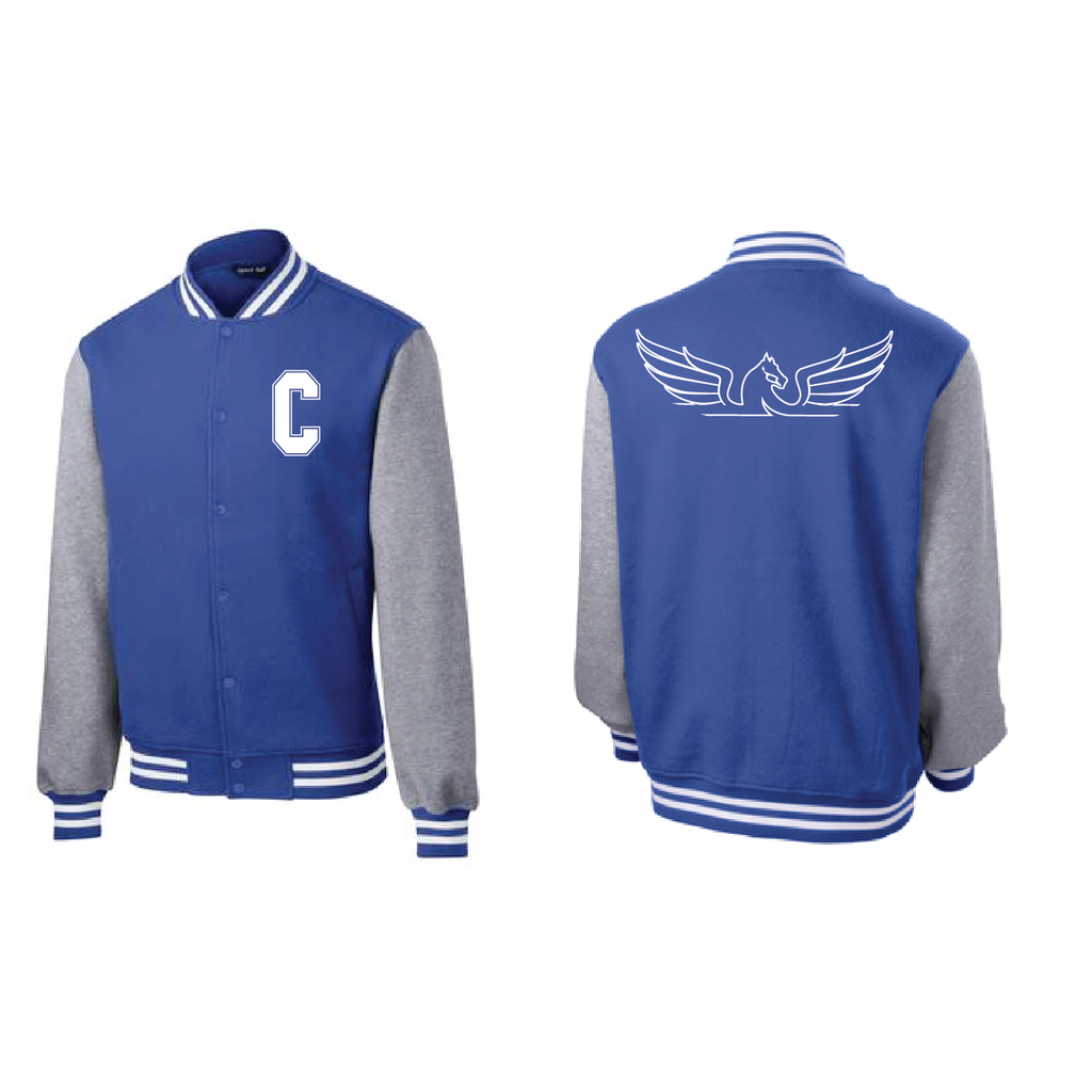 City High Middle Men's Fleece Letterman Jacket (ST270)