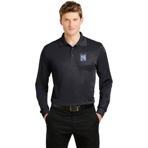 City High Staff Men's Long Sleeve Polo (ST657)