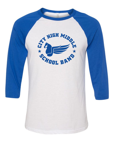 City High Middle Band Raglan (baseball tee)
