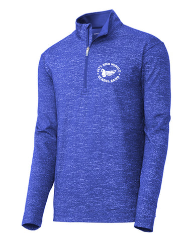 City High Middle Band Stretch Reflective Heather 1/2-Zip Pullover