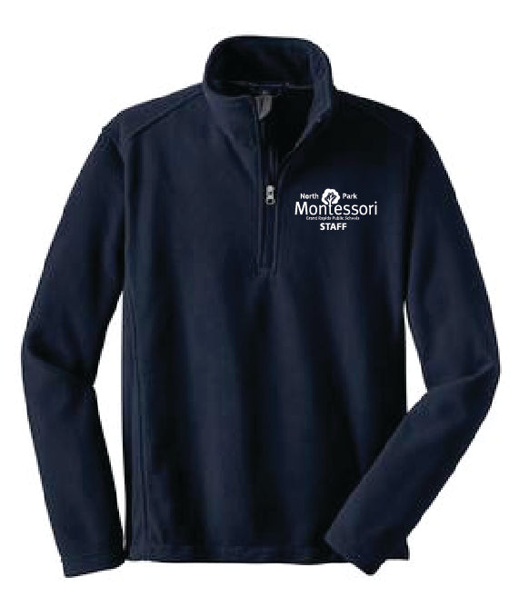 North Park Montessori Staff 1/4 Zip Fleece Jacket (F218)