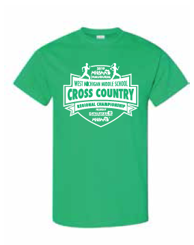 Middle School Cross Country Short Sleeve Tee