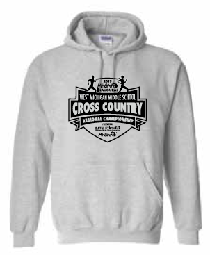 Middle School Cross Country Hoodie Sweatshirt