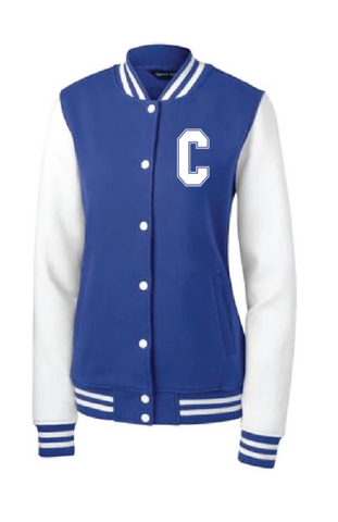City High Middle Ladies Fleece Letterman Jacket (LST270)