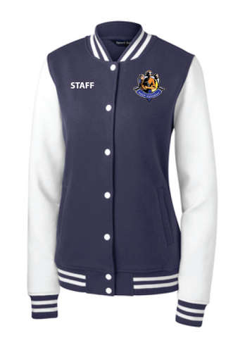 Uprep Staff Ladies Fleece Letterman Jacket