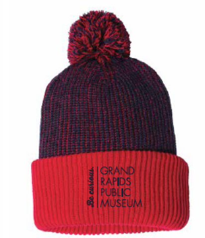 "Museum School 12"" Knit Speckled Pom-Pom Beanie"