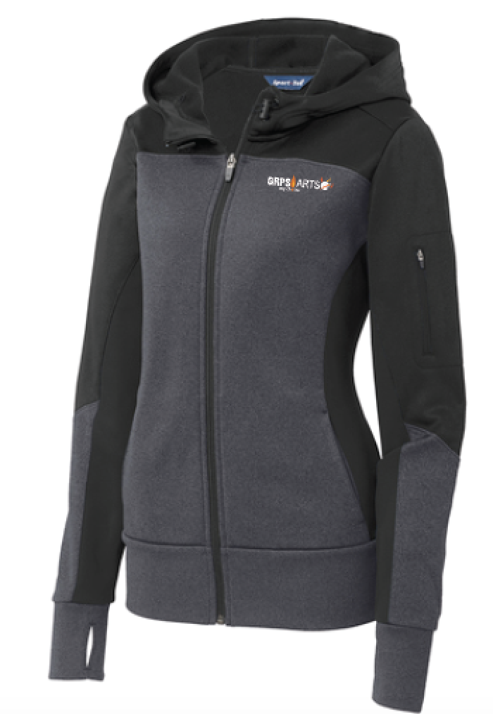 GRPS Arts LST245 Sport-Tek® Ladies Tech Fleece Colorblock Full-Zip Hooded Jacket