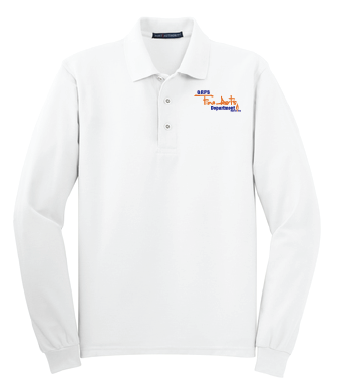 GRPS Arts Script Port Authority Silk Touch™ Long Sleeve Polo K500LS