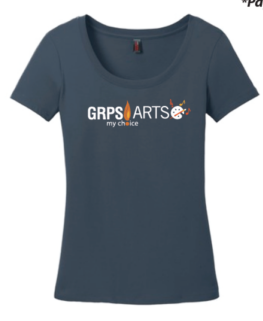 GRPS Arts DM106L District ® Women's Perfect Weight ® Scoop Neck Tee