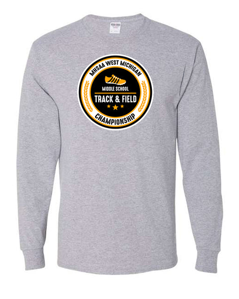 MHSSA Track and Field Championship Tee 2021 Grey Shirt