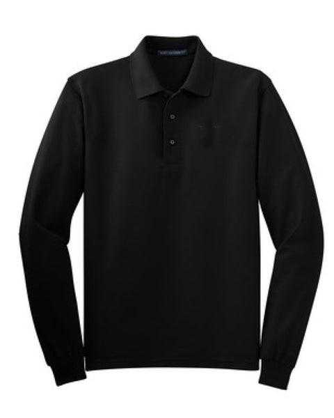 Staff Long Sleeve Polo School Logo