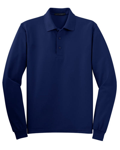 Blank Uniform Long Sleeve Polo