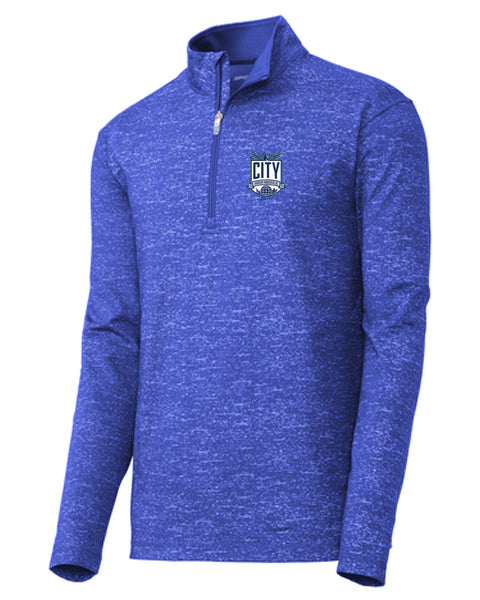 City High Middle Sport-Wick ® Stretch Reflective Heather 1/2-Zip Pullover (st855)
