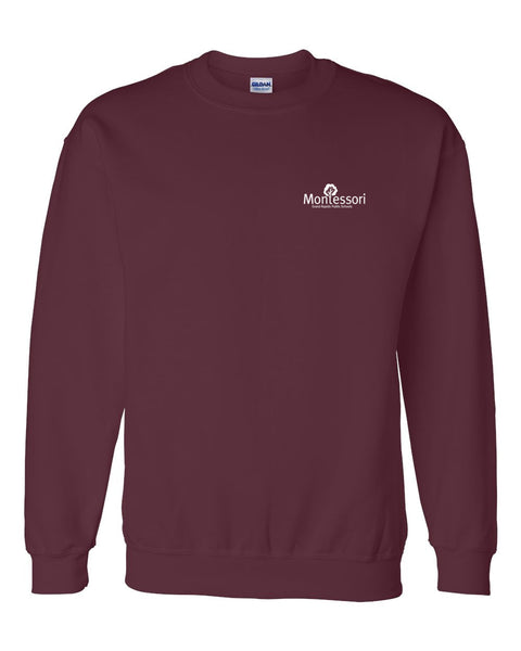 GR Montessori Left Chest Crew Neck Sweatshirt
