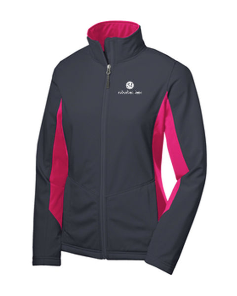 Women's Suburban Inns Port Authority® Core Colorblock Soft Shell Jacket