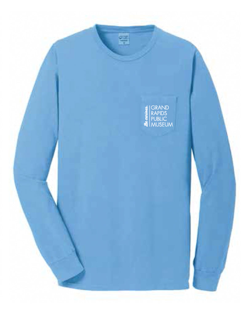 Museum Staff Port & Company® Pigment-Dyed Long Sleeve Pocket Tee
