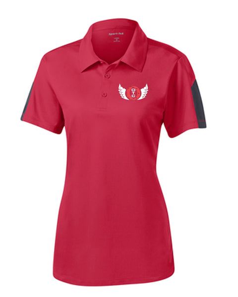 Ohio Tech Ladies Sport-Tek® PosiCharge® Active Textured Colorblock Polo