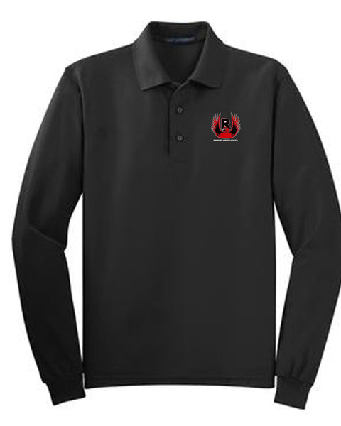 Riverside Middle Embroidered Long Sleeve Polo