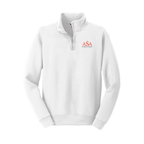All Saints Academy Youth 1/4-Zip Cadet Collar Sweatshirt