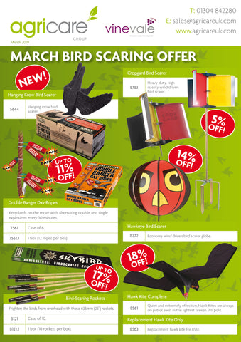 Bird Scaring March Offers