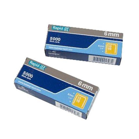 Rapid 6mm R19 Staples - Pk5000