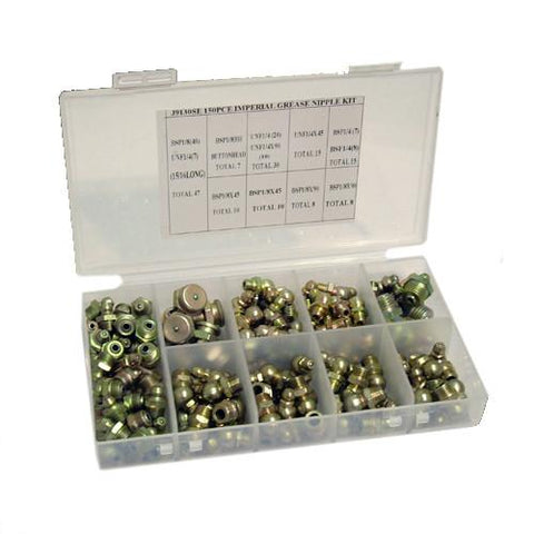 Assorted Metric Grease Nipples - (150-pce)