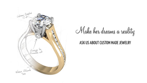Click her to view Dave's Custom Design Gallery.  Please contact West and Company Diamonds at 315-253-7000 or westandcompanydiamonds@gmail.com.  We will help you create your dream jewelry from start to finish.