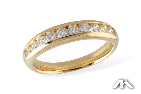 Diamond Wedding Band in 14K Yellow Gold 0.50ct TDW