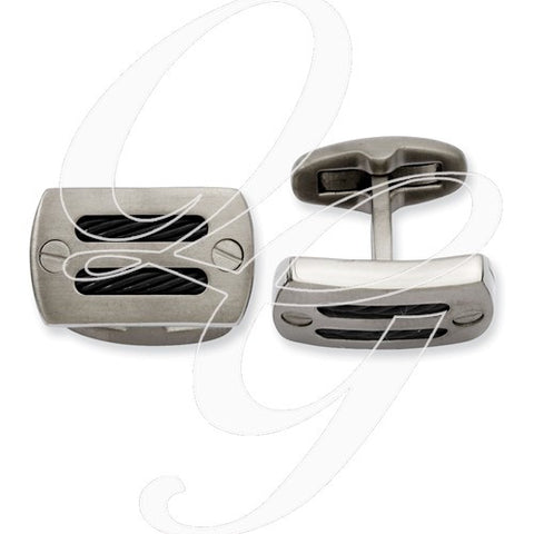 Black Titanium Cuff Links