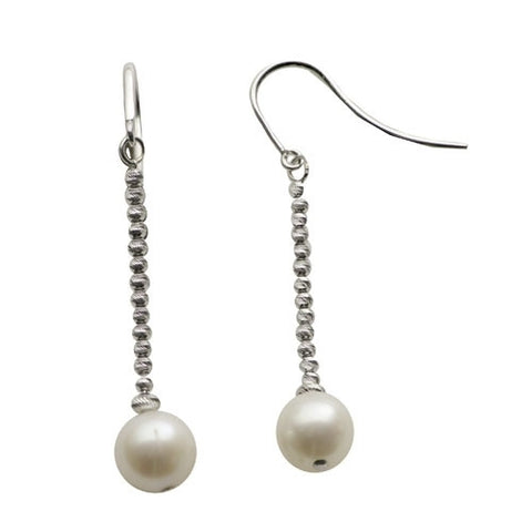 Sterling Silver Freshwater Pearl Brilliance Earrings
