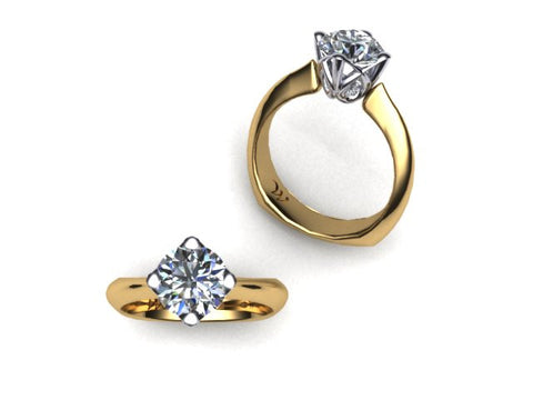 West & Company Signature Series Diamond Accent Semi-Mount Solitaire