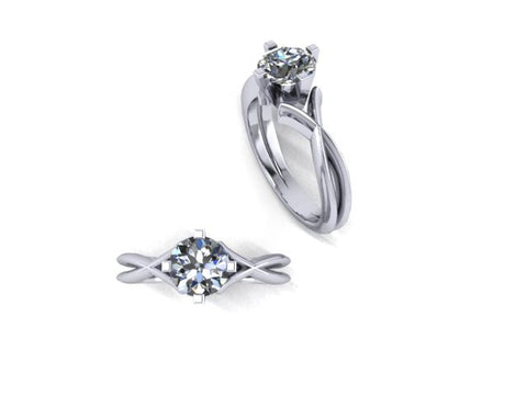 West & Company Twist Solitaire Semi-Mount Engagement Ring