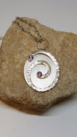 Bezel Set Amethyst Slide Pendant By Martha