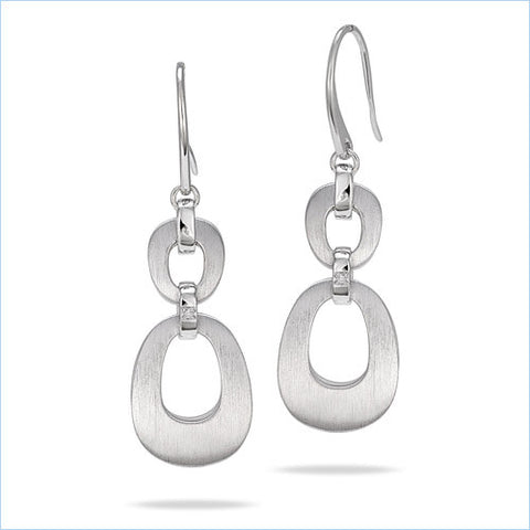Sterling Silver Earrings with .01ct Diamond Accents