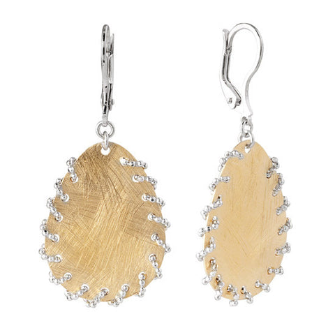 Fredric Duclos Gold Plated Whipstitch Earrings