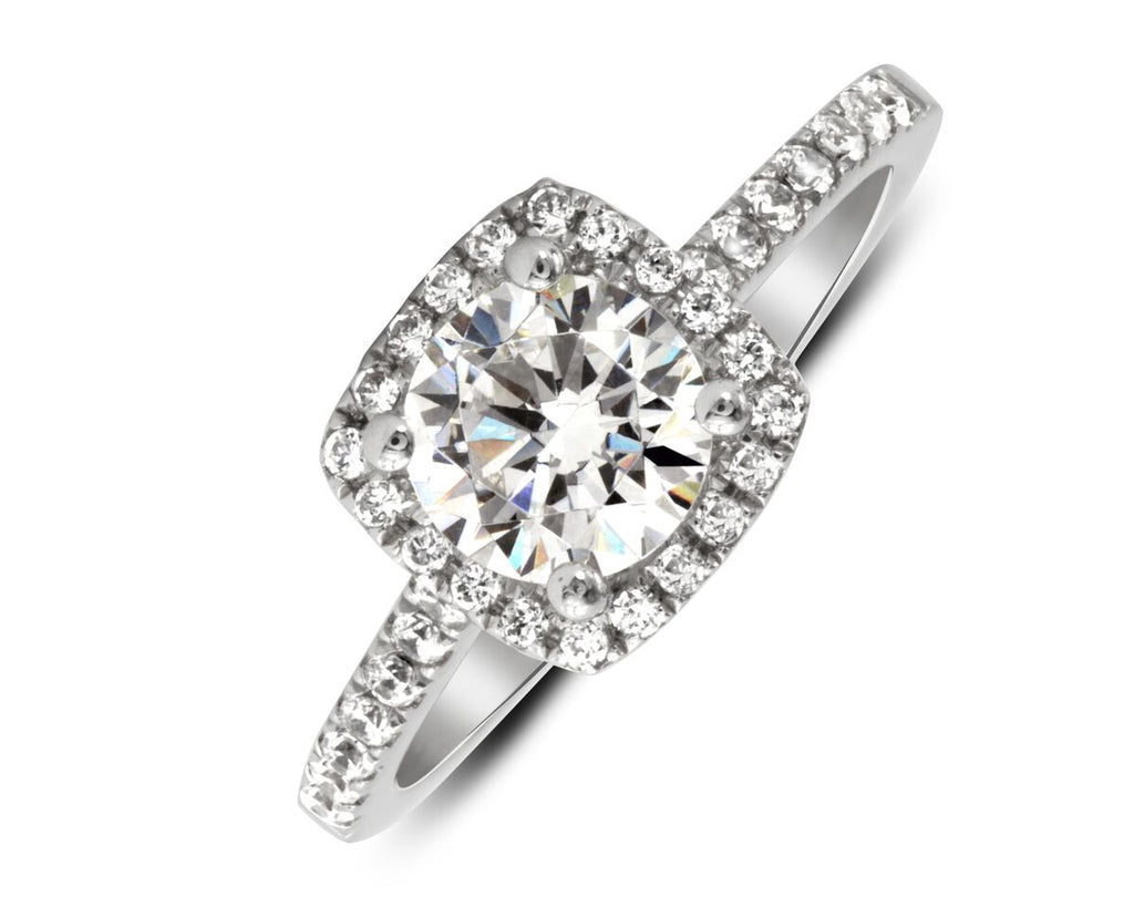 ring shaped diamond tonight halo engagement propose pear rings