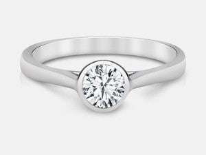 Naledi Certified Solitaire Diamond Engagement Ring .50Ct