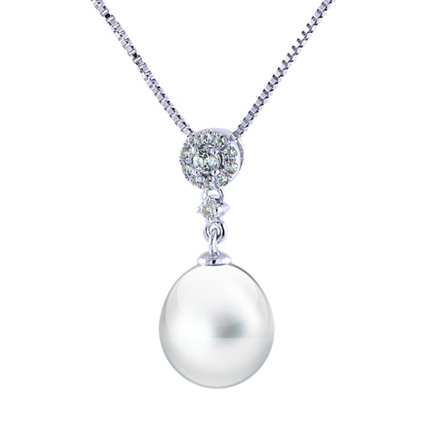 Sterling Silver Freshwater Pearl Drop Necklace