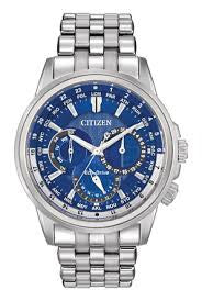 Citizen Eco-Drive Men's Calendrier Stainless Steel Watch Water resistant watch for swimming