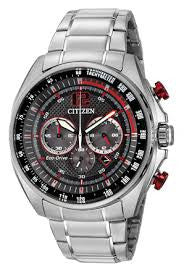 Citizen Men's Eco-DRV WDR Watch with red accents