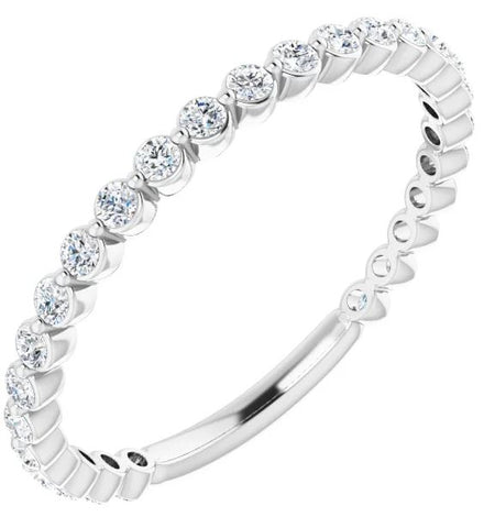 White Gold Shared Prong Diamond Band