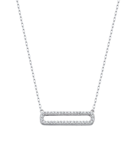 Sterling Silver Bar Style Necklace