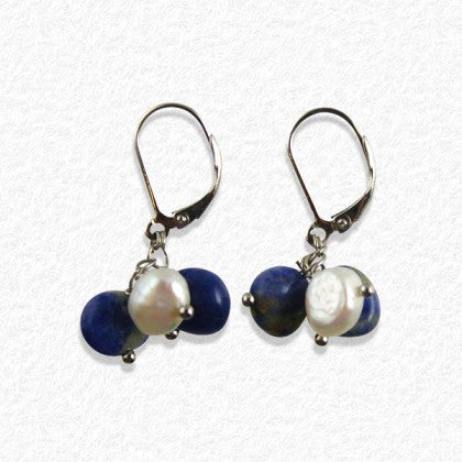 "Sterling Silver ""Starry Night"" Dangle Earrings"