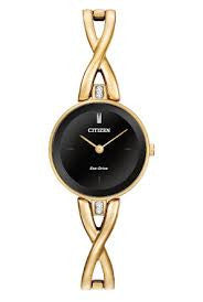 Citizen Women's 'Silhouette' Quartz Stainless Steel Gold-Toned Casual Watch